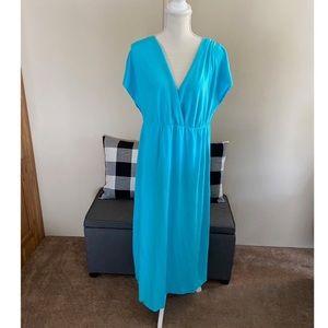 Lane Bryant Turquoise Knit Maxi Dress 18/20